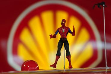 Boneco do Homem-Aranha enfeita o carro número 3 do tricampeão de Indianápolis. Duda Bairros/Vicar