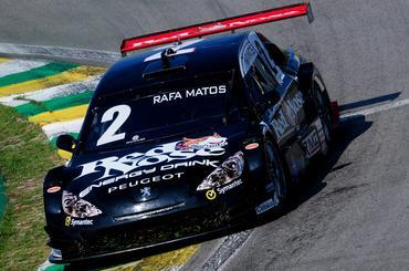 Rafa Matos aproveitou os treinos em Interlagos nesta quinta-feira.