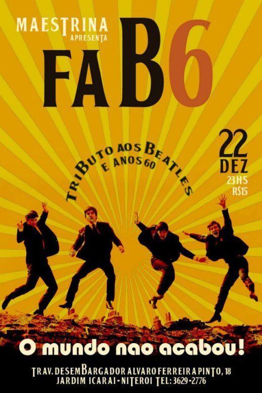 Mais uma vez o melhor tributo aos Beatles e anos 60 de Niterói se apresenta no Espaço Maestrina, Icaraí!