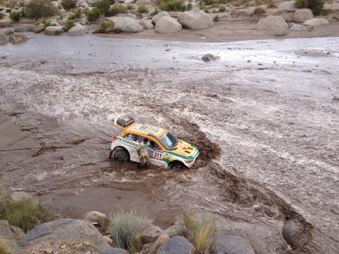 Equipe Mitsubishi Petrobras foi surpreendida pela água