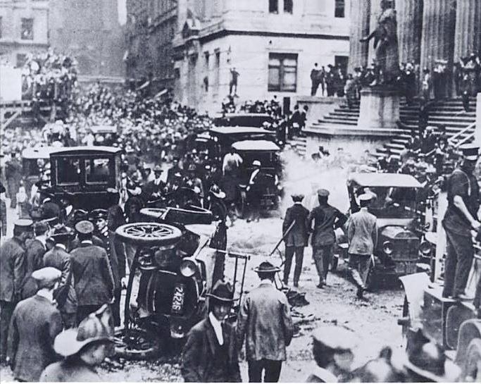 Nova Iorque, Wall Street, 1920