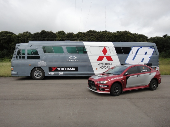 Equipe da Mitsubishi lidera Brasileiro de Rali de Velocidade