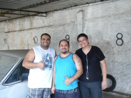 Henrique, Leandro e Mauricio (com certeza a foto mais pesada!) kkk