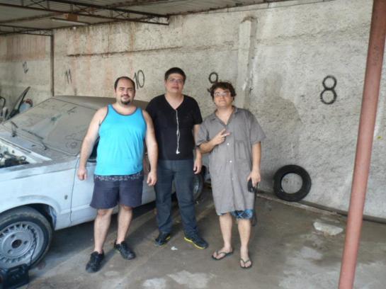 Eu(Leandro), Mauricio e o Max (de vestido) ;)