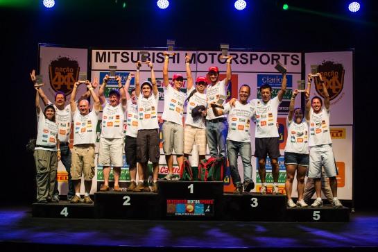 Pódio categoria Graduados - Tom Papp / Mitsubishi