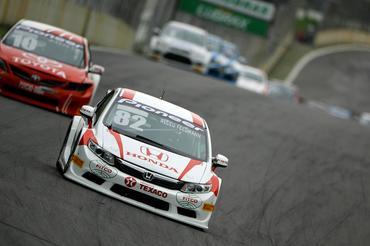 Alceu Feldmann levou o Honda Civic ao pódio neste domingo em Interlagos. - Bruno Terena/Vicar
