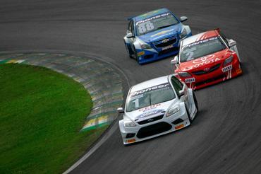 Em Interlagos, Thiago Marques estreou com o Ford Focus da Amir Nasr Racing. - Bruno Terena/Vicar