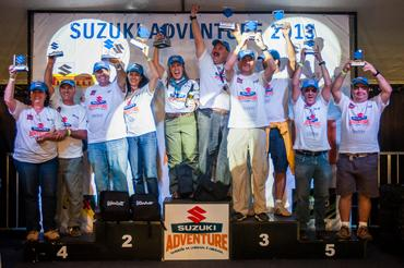 Na premiação da categoria Pro, Celso e Belém Macedo subiram ao topo do pódio  - Murilo Mattos/ Suzuki Veículos