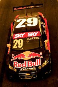 Chevrolet Sonic do pole position Daniel Serra, que lidera a Stock Car.  - Fernanda Freixosa/Vicar