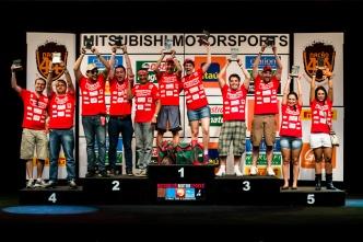 Pódio da categoria Turismo - Ricardo Leizer/Mitsubishi