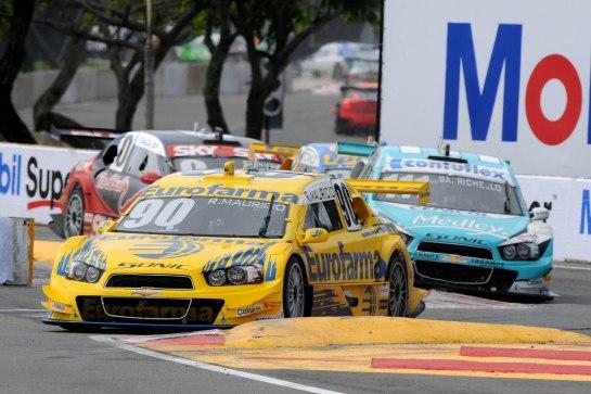 Ricardo, Rubens, Thiago e Cacá, quatro primeiros no quinto GP Bahia Stock Car. - Fernanda Freixosa/Vicar