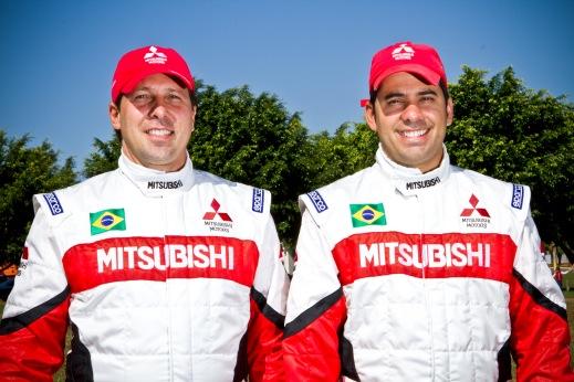 Vinicius Branca / Mitsubishi - Dupla está animada com o novo desafio