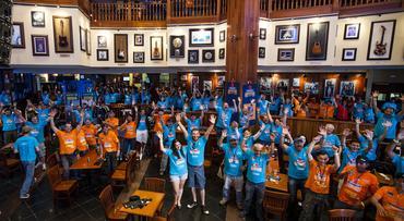 Aproximadamente 400 pessoas fizeram parte do Suzuki Adventure -
