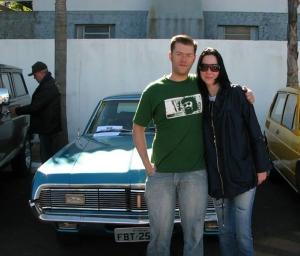 Rodrigo (Sabugo) e sua noiva Silvia, mas de 320 Km de estrada de Curitibanos - SC até Sarandi - RS