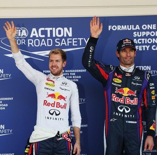 Weber supera o Vettel pela  primeira vez no ano