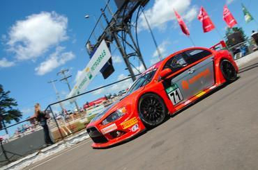 Mitsubishi Lancer GT de Gustavo Martins, que disputou a prova em Tarumã. - Duda Bairros/Vicar