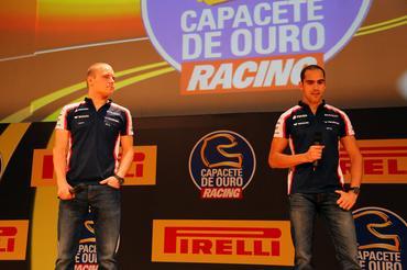 Capacete de Outro teve presença dos pilotos Valteri Botas, Pastor Maldonado ... - Foto: Rafael Munhoz/Divulgação