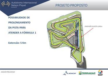Projeto do Autódromo de Brasília - Ilustração: GDF/Novacap