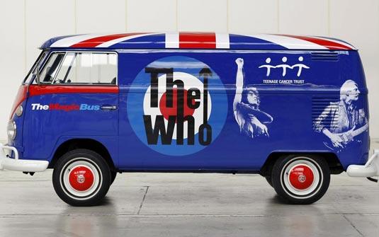 Kombi tem imagens de membros da banda de rock The Who (Foto Divulgação)