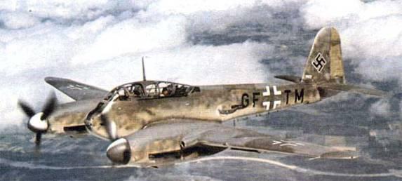 Messerschmitt-Me410-WWII-Nazi-Fighter-Inflight